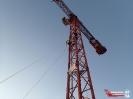 Übung der Absturzsicherung auf einer Baustelle im Heidfeld._11