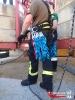 Übung der Absturzsicherung auf einer Baustelle im Heidfeld._3